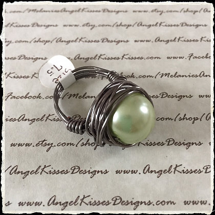 Pearl Nested Ring- Celadon