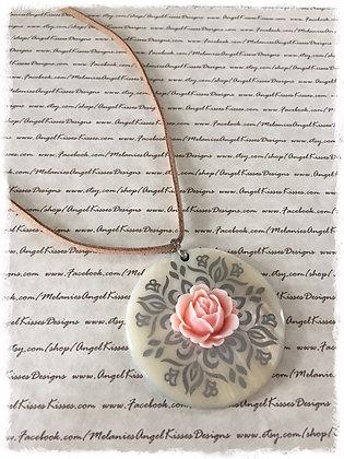 Summer Suede Collection- Blush Flower