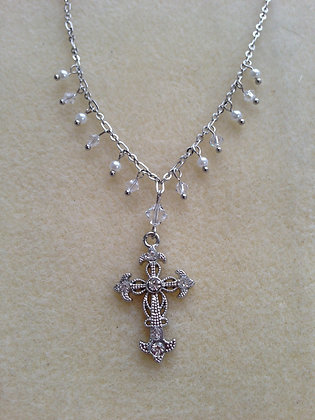 Pure Droplets- Embellished Cross