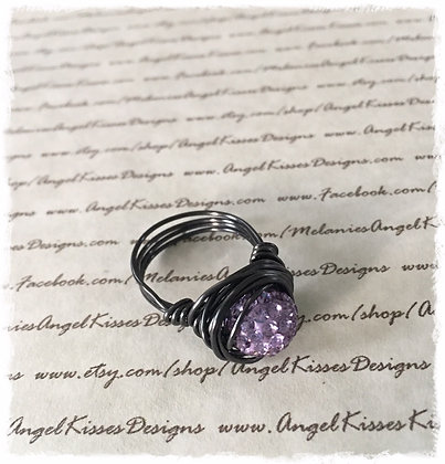 Nested Snowball Ring- Lavender