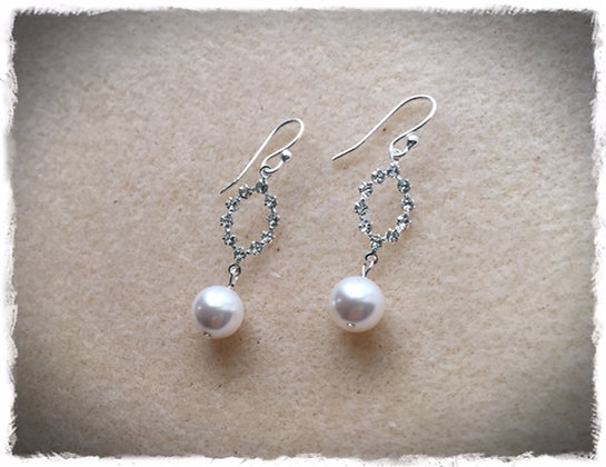 Swarovski Oval N Pearl Dangle