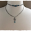 """Thumbnail: """"Chained Up Blue Agate"""" Double Layered Choker Necklace"""