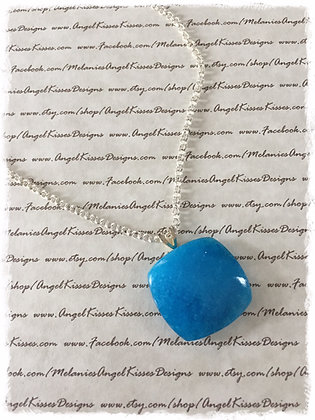 Gemstone Drop- Turquoise Bubble Square