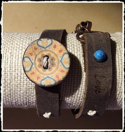 Insprirational Coconut Button Wrap- Love