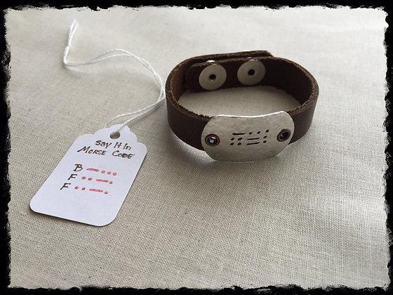 Say It In Morse Code Bracelet - BFF