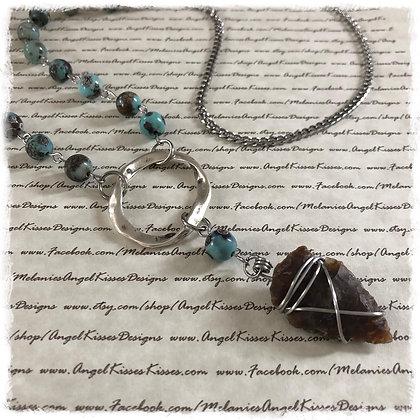 "Arrowhead Gemstone Necklace- ""Ranch"""