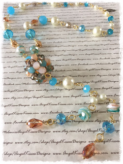XL Beaded turquoise N amber 2