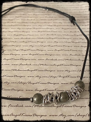 Chained Up- Golden Pyrite Necklace