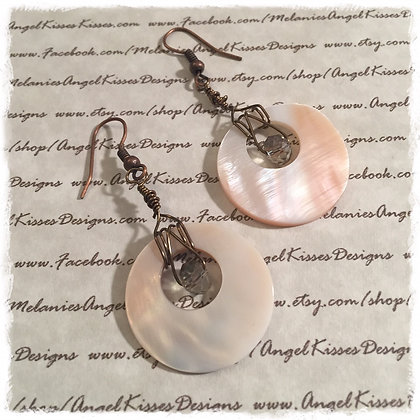 Summer Shell  Wire wrapped- Bronze
