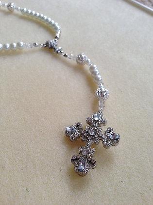 Pearl N Crystal Rosaries