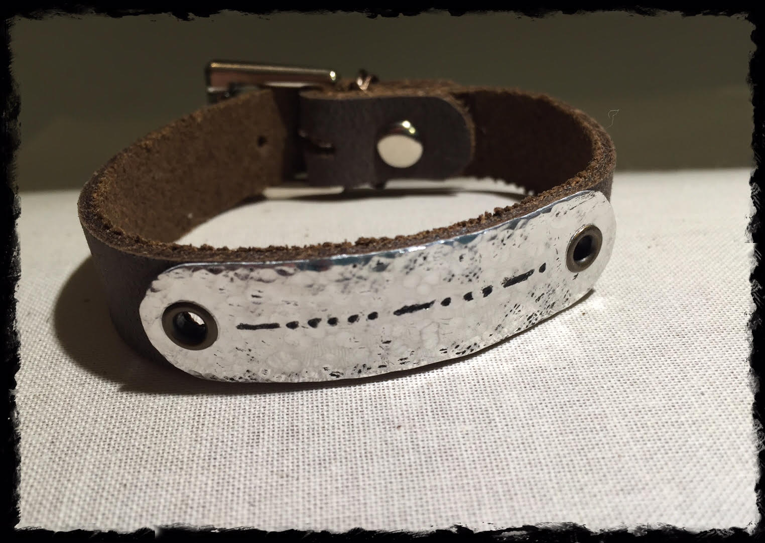 Say It In Morse Code Bracelet- BFF thin metal antiqued no card.jpg