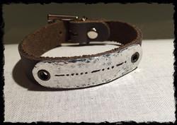 Say It In Morse Code Bracelet- BFF thin metal antiqued no card.jpg