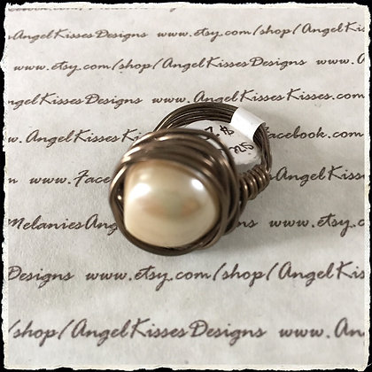 Pearl Nested Ring- Champagne