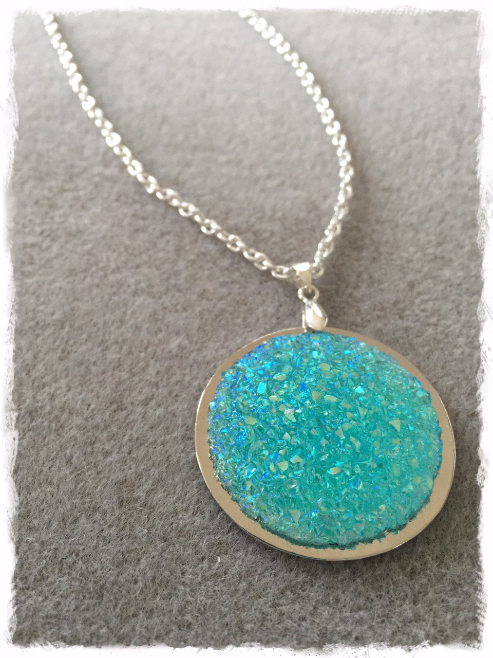 Aqua Moon Necklace