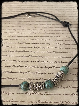 Chained Up- African Turquoise Necklace