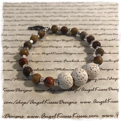 Aromatherapy Diffuser Stretch Bracelet- Desert