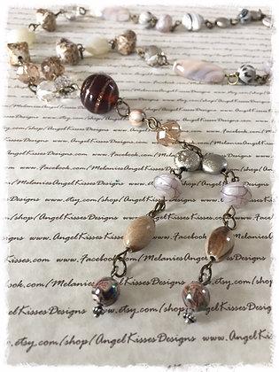 XL Beaded Necklace- Vanilla Sugar