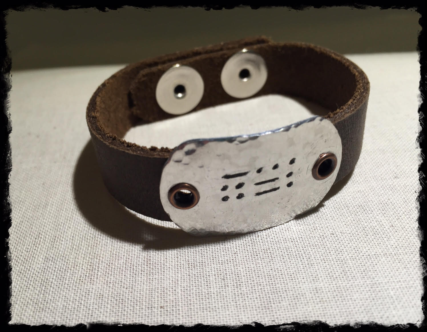 Say It In Morse Code Bracelet- BFF chubby metal