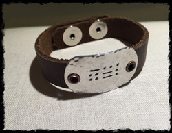 Say It In Morse Code Bracelet- BFF chubby metal