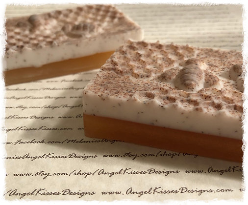 Raw Honey Almond Vanilla Soap Bar with Plant Seed Paper