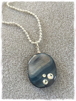 Denim Kissed Stone Necklace