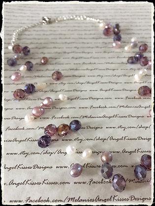 Floating Pearls- Amethyst