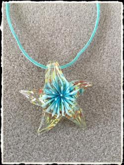 Summer Suede Collection- Aqua Glass Starfish