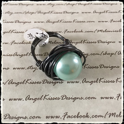 Pearl Nested Ring- Mint