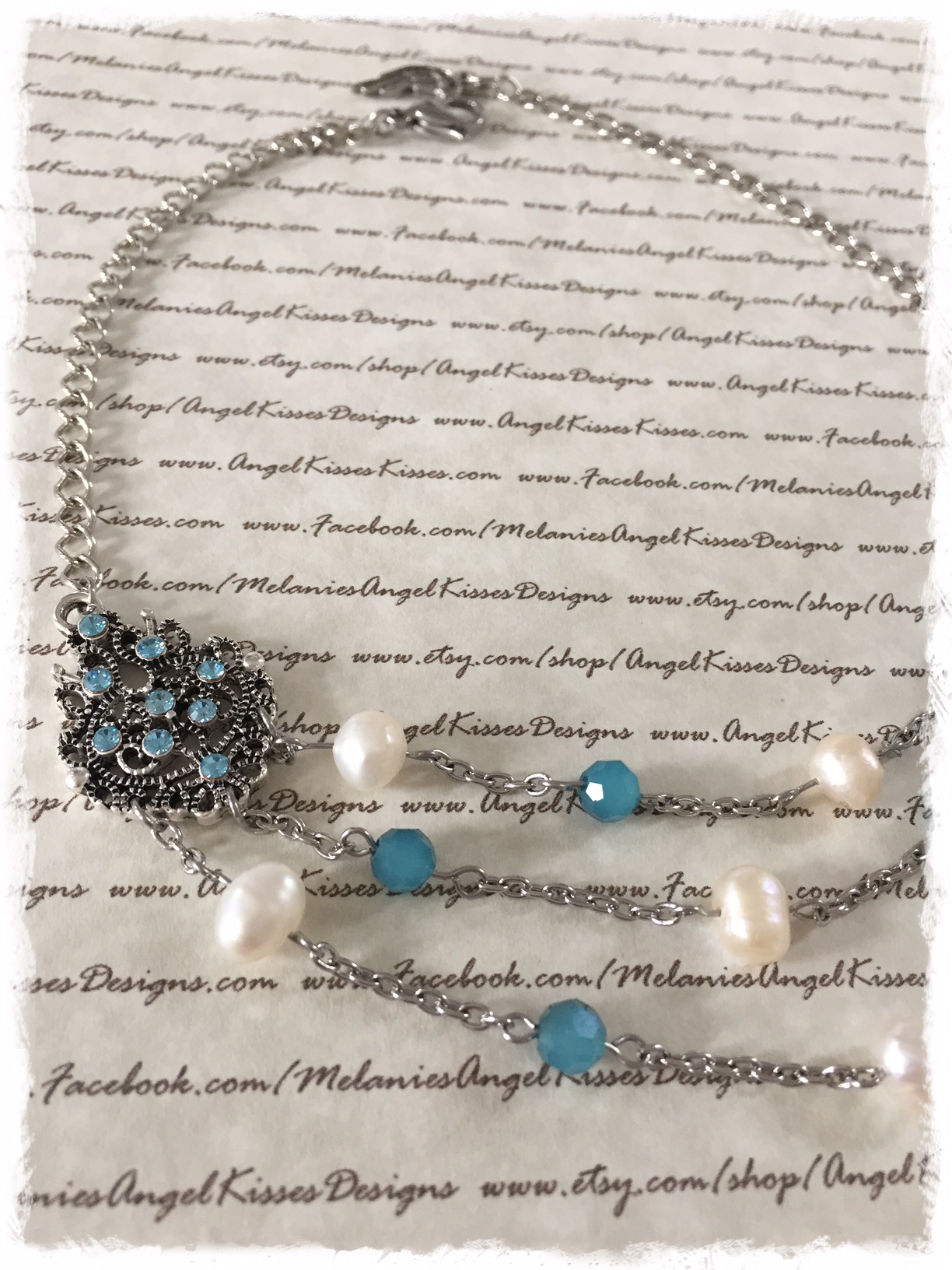 Butterfly Choker- turquoise