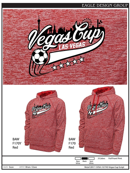 VC20 Ash RED Heather Hoodie
