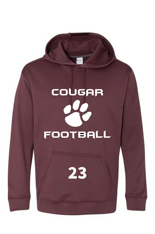 PERFORMANCE HOODIE with COUGAR CHEST LOGO