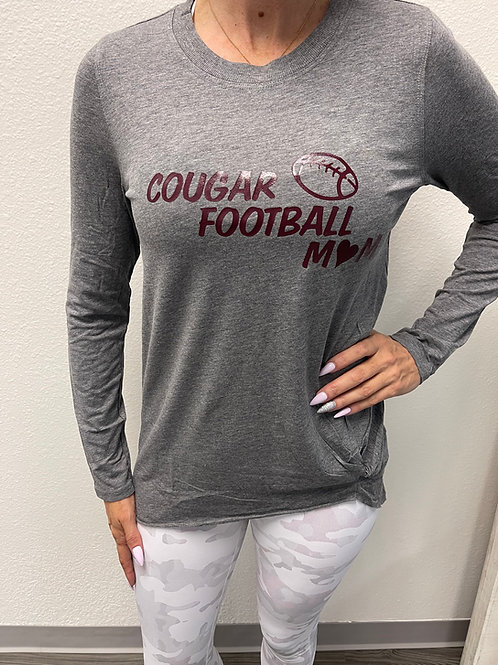 Long Sleeve Pullover With Cougar Chest Logo