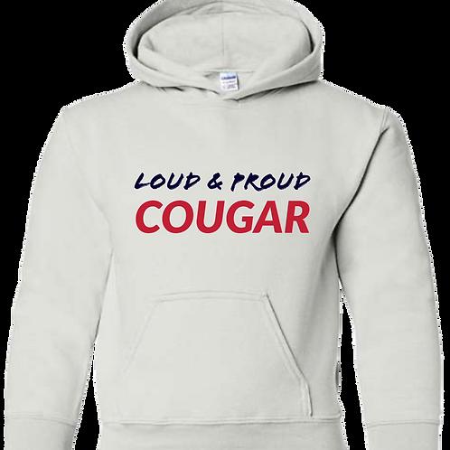 Loud & Proud COUGAR Hoodie (White)