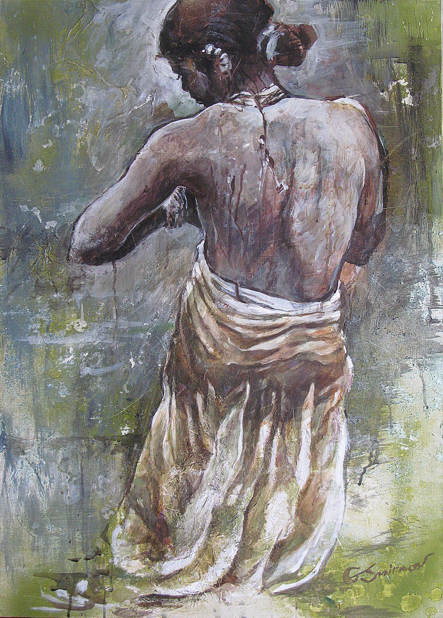 Indian girl bathing_1_1400