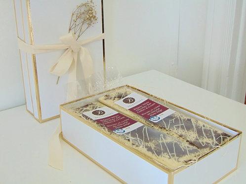 Belgian White Chocolate Bar Cookies & Cream Gift Box