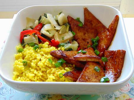 Teriyaka Tofu Bowl With Tumeric Brown Rice