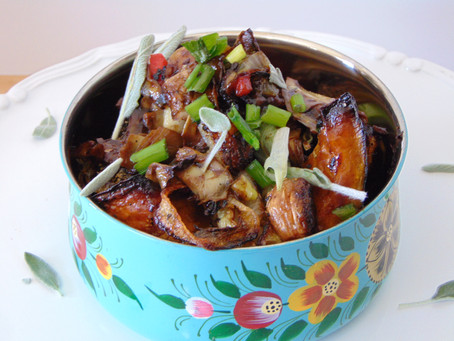 Roasted Butternut Squash and General Tao Artichokes