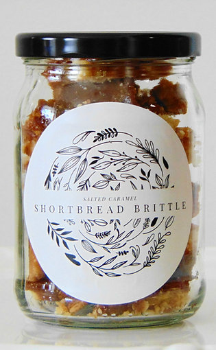 Salted Caramel Shortbread Brittle