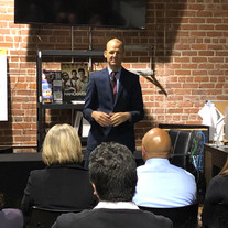 Assemblymember Kevin McCarty giving remarks at the PAC and ARC reception on January 22.