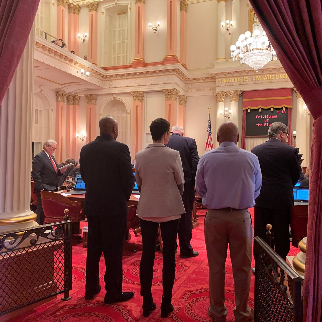 PAC and ARC being introduced on the California State Senate Floor.