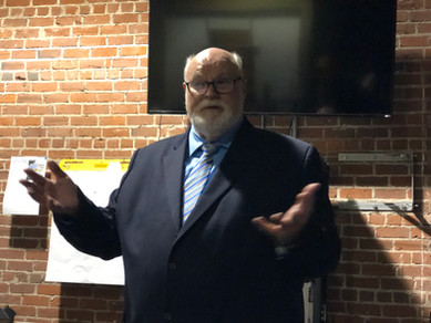 Senator Jim Beall giving remarks at the PAC and ARC reception on January 22.