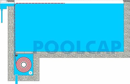 Pool Rollladenabdeckung Unterflur im Bec