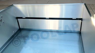 Edelstahlpool mit Frontblende für Beckenverlängerung unten