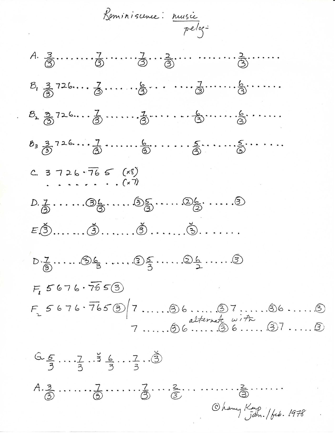 Gamelan Music Score
