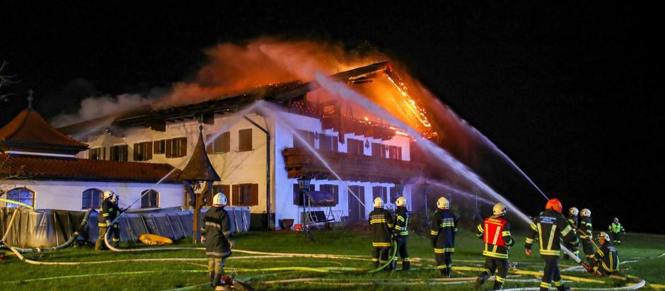 Brand Wohnhaus in Revier
