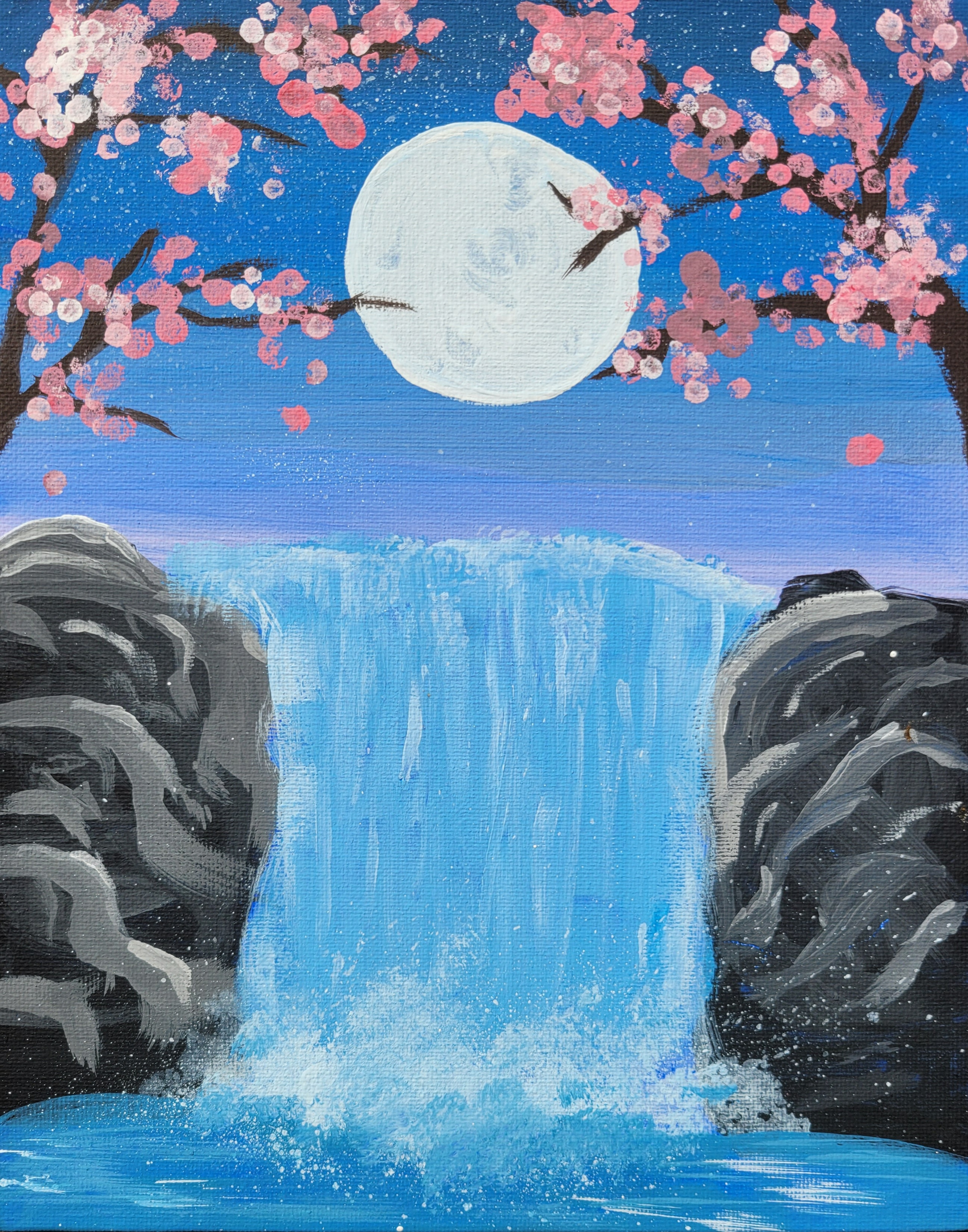 Cherry Blossom Falls by Audrey Bingham
