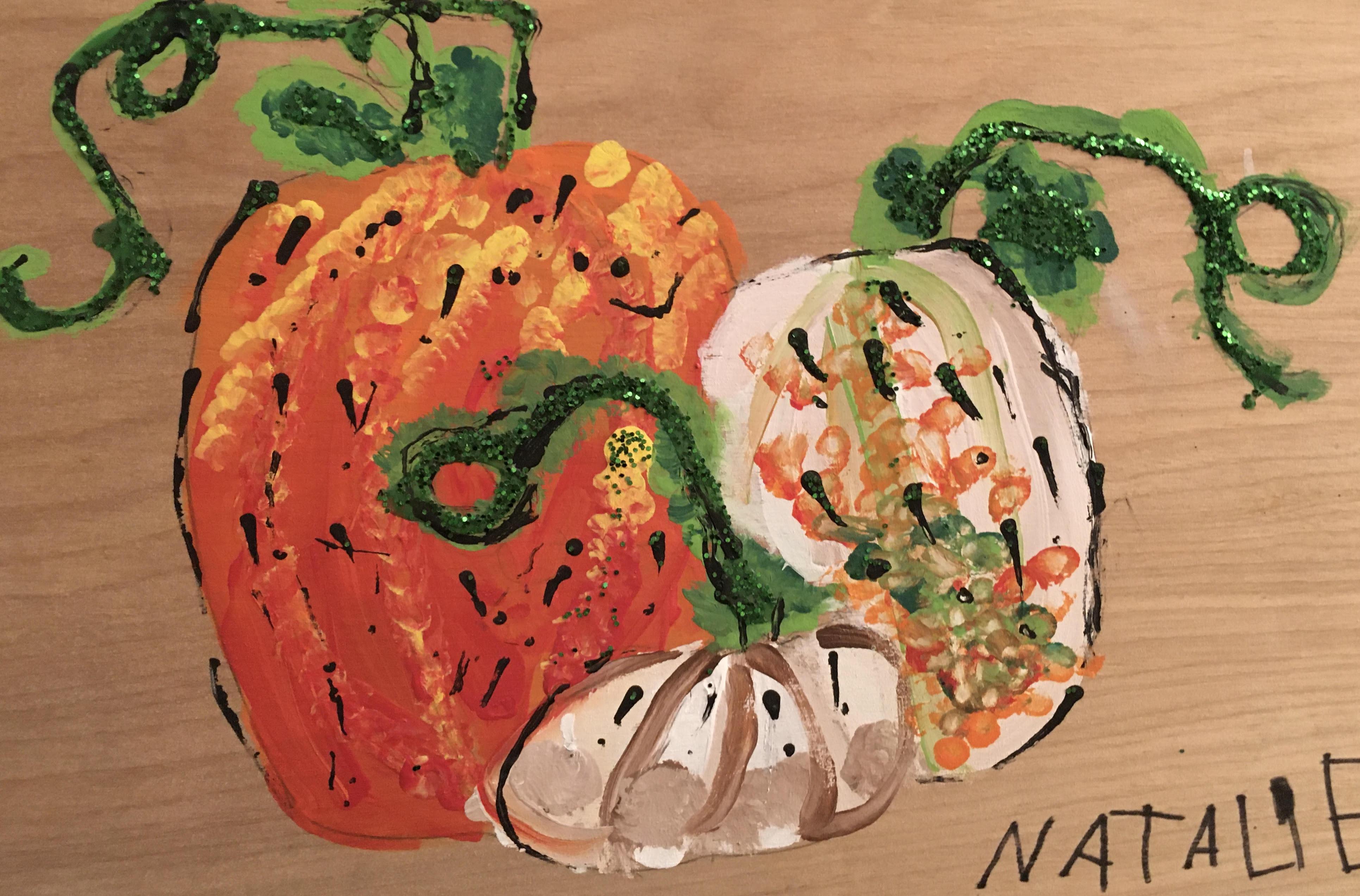 Glitter Pumpkins by Natalie Montes
