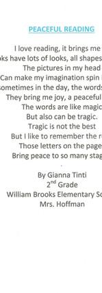 Peaceful Reading by Gianna Tinti