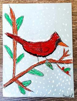 Red Winter Bird by Samuel Linke