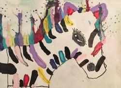 Rainbow Zebra by Natalie Montes
